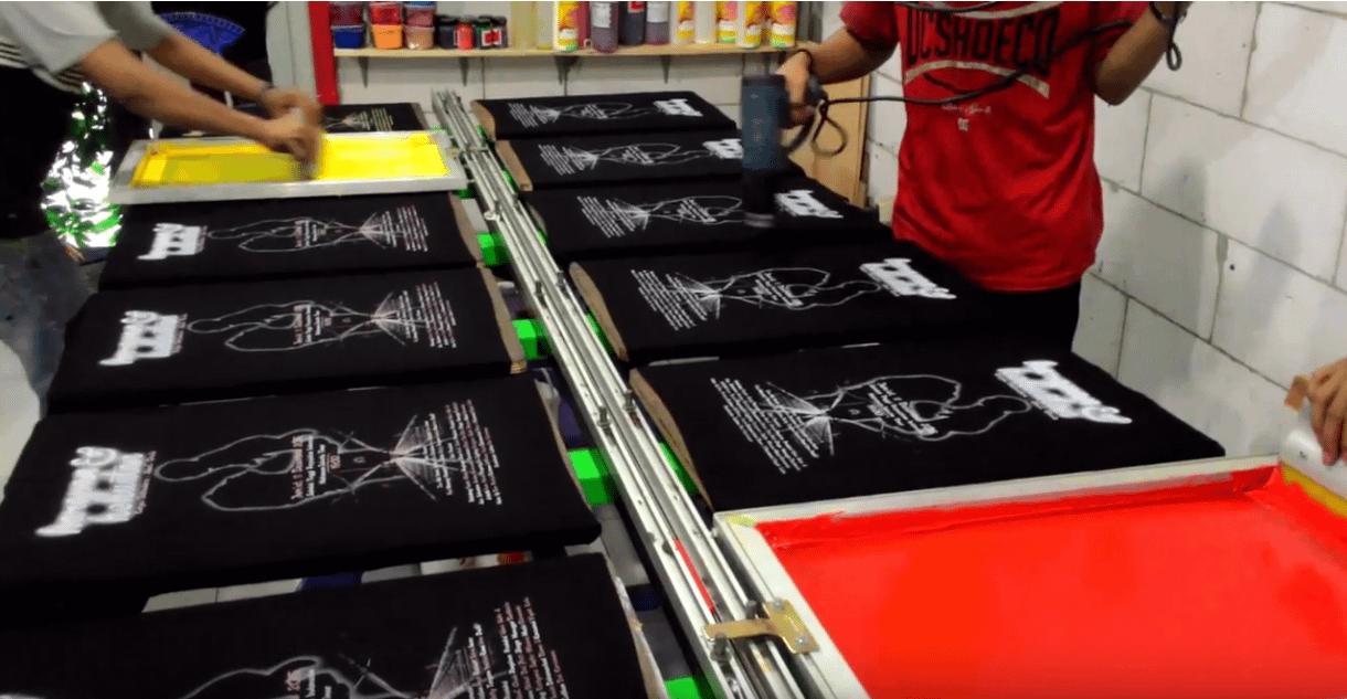 Line Table production Screen Printing