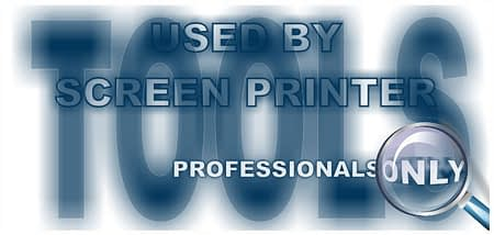 Letter Design showing, Tools used by Screen Printers proffessionals only